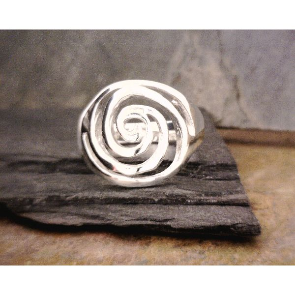 Sterling Swirl Ring Vulcan's Forge LLC Kansas City, MO