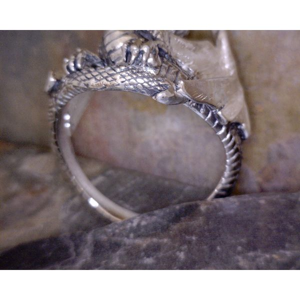 Sterling Large Dragon Ring Image 2 Vulcan's Forge LLC Kansas City, MO