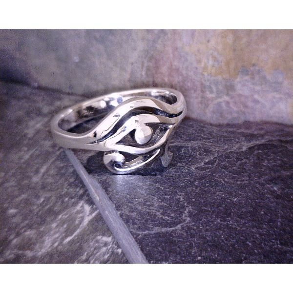 Sterling Eye of Horus Ring Vulcan's Forge LLC Kansas City, MO