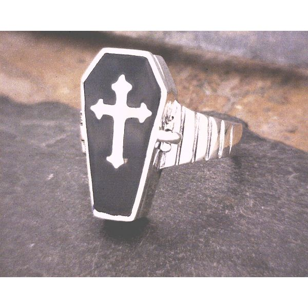 Sterling Silver Casket Ring Vulcan's Forge LLC Kansas City, MO