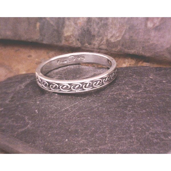 Sterling Thin Band w/knotwork Vulcan's Forge LLC Kansas City, MO