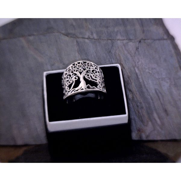 Silver Tree Of Life Ring Vulcan's Forge LLC Kansas City, MO