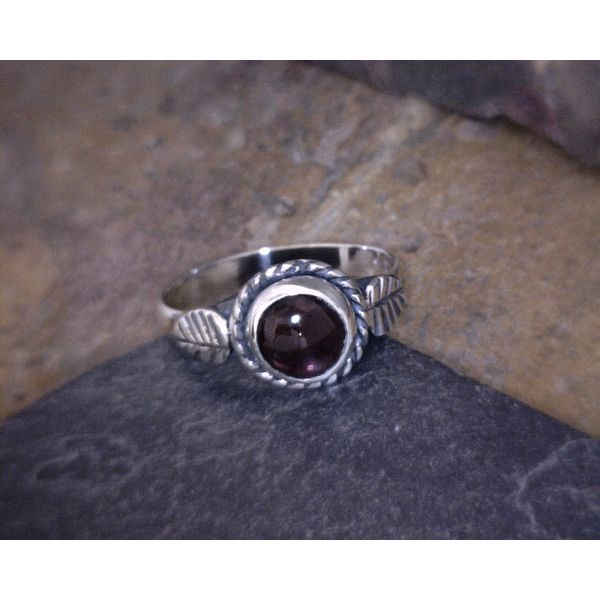 Silver Garnet Ring Vulcan's Forge LLC Kansas City, MO