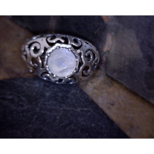 Sterling Silver Moonstone Ring Vulcan's Forge LLC Kansas City, MO