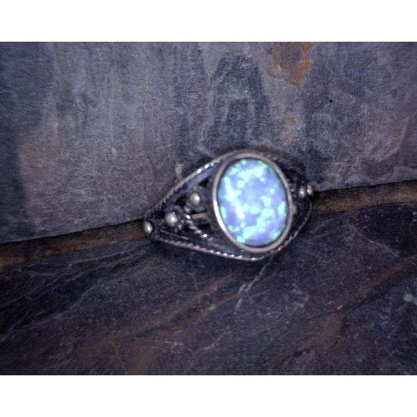 Sterling Silver Opal Ring Vulcan's Forge LLC Kansas City, MO