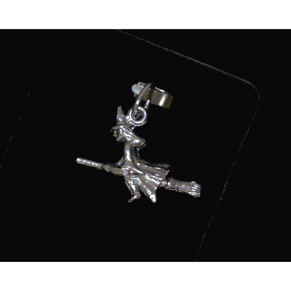 Sterling Silver Witch Charm Vulcan's Forge LLC Kansas City, MO