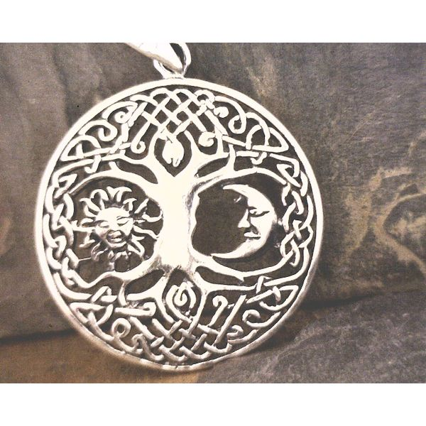 Sterling CelticTree of Life With Sun and Moon Pendant Vulcan's Forge LLC Kansas City, MO