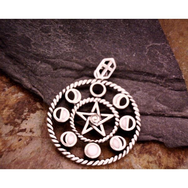Sterling Moon phases With Pentacle Vulcan's Forge LLC Kansas City, MO