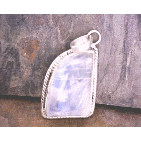 Sterling Freeform Moonstone Pendant Vulcan's Forge LLC Kansas City, MO
