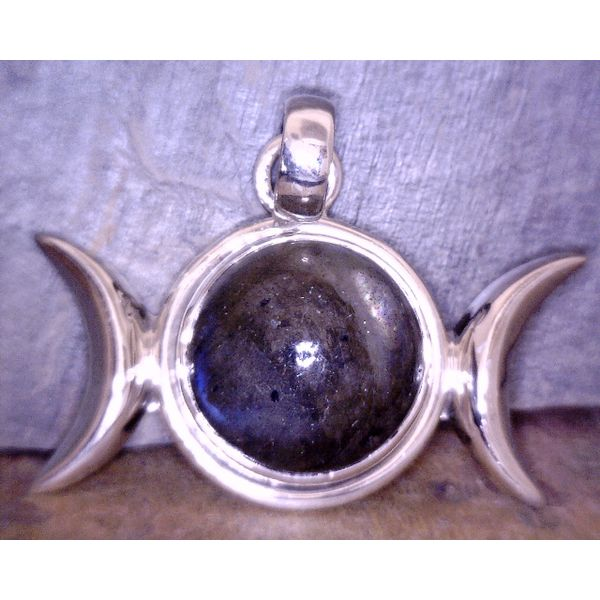Sterling Labradorite Moon Phases Pendant Vulcan's Forge LLC Kansas City, MO