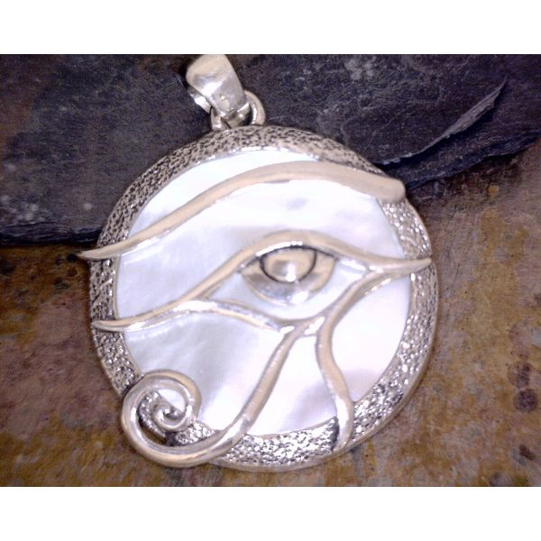 Sterling Mother Of Pearl Eye of Horus Vulcan's Forge LLC Kansas City, MO
