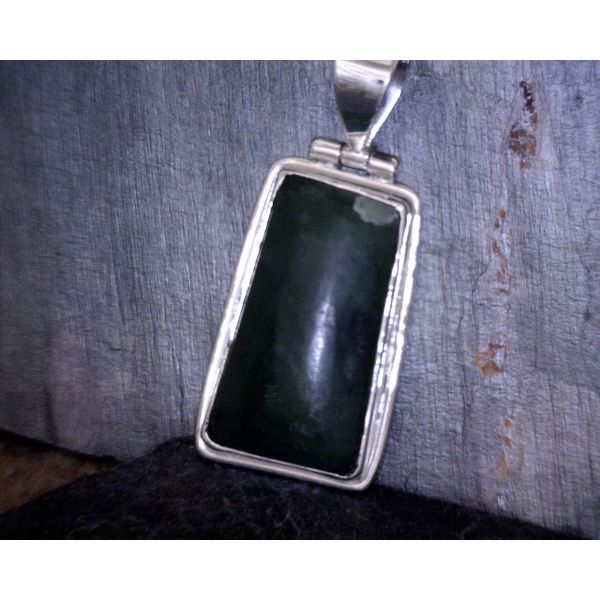 Sterling Silver Jade Pendant Vulcan's Forge LLC Kansas City, MO