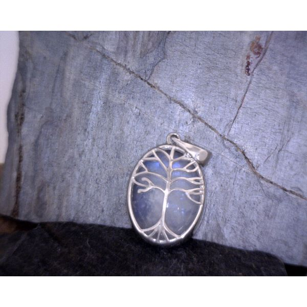 Sterling Silver Moonstone Pendant Vulcan's Forge LLC Kansas City, MO