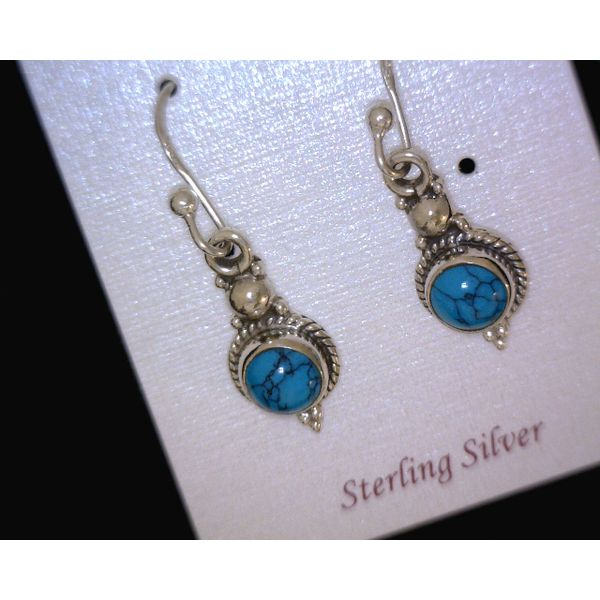 silver earrings with stones Vulcan's Forge LLC Kansas City, MO