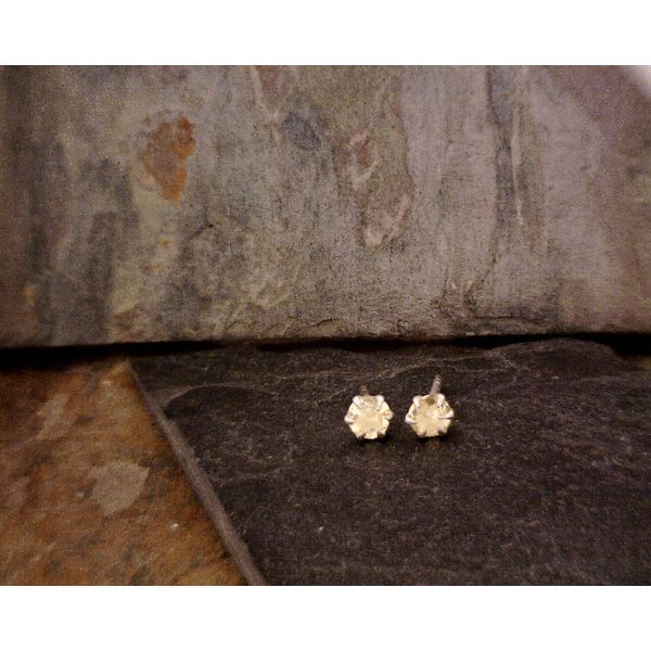 Sterling 4 mm Faceted Citrine Studs Vulcan's Forge LLC Kansas City, MO
