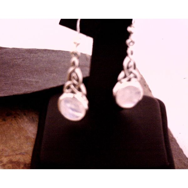 SS Moonstone with Celtic Knot Drop Earrings Vulcan's Forge LLC Kansas City, MO