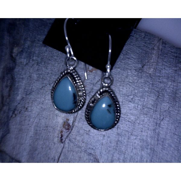 Sterling Silver Turquoise Earrings Vulcan's Forge LLC Kansas City, MO