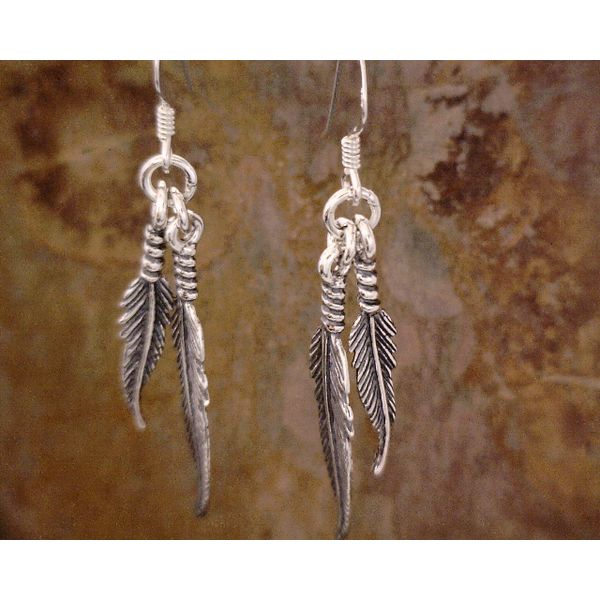Sterling Multi Feathers Dangles Vulcan's Forge LLC Kansas City, MO