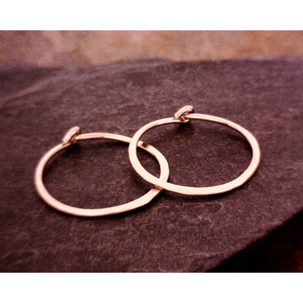 SS Rose Gold Filled Hoops Vulcan's Forge LLC Kansas City, MO