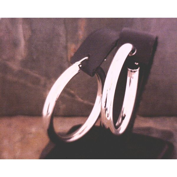 Silver Hoop Earrings Vulcan's Forge LLC Kansas City, MO