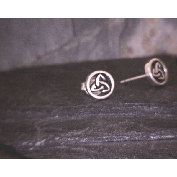Sterling Triquetra in Circle Studs Vulcan's Forge LLC Kansas City, MO