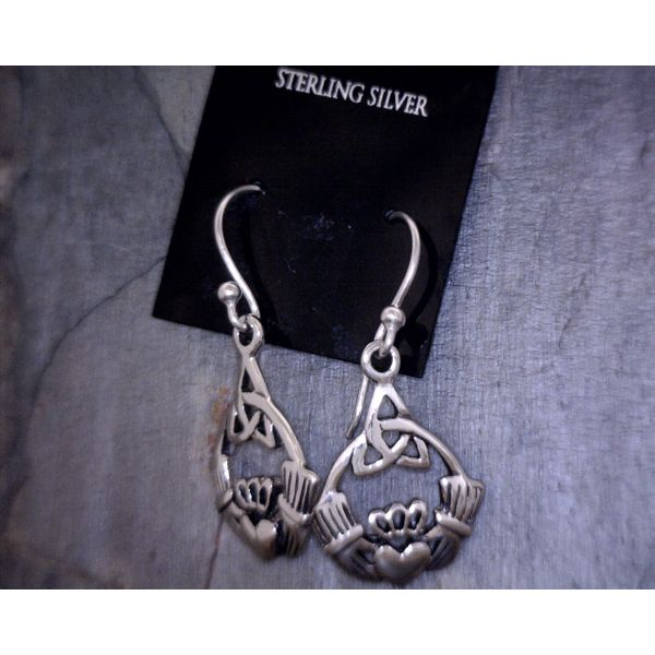 Sterling Silver Claddagh Earrings Vulcan's Forge LLC Kansas City, MO
