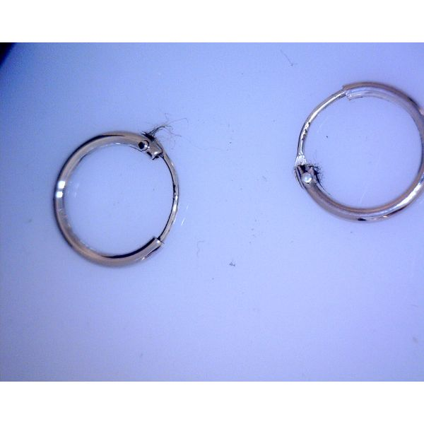 Sterling Silver Hoops Vulcan's Forge LLC Kansas City, MO