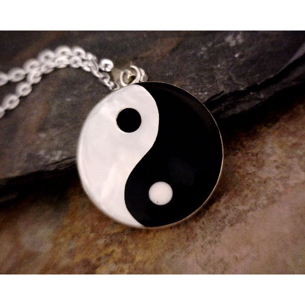 Sterling Onyx & MOP Yin/Yang Necklace Vulcan's Forge LLC Kansas City, MO