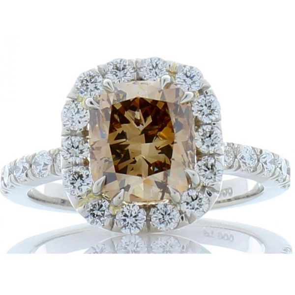 Cushion Diamond Ring with Halo Wesche Jewelers Melbourne, FL