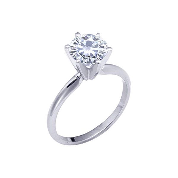 Brilliant Diamond 6-Prong Solitaire Ring Wesche Jewelers Melbourne, FL