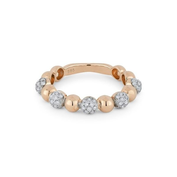 "Diamond ""Ball"" Stackable Ring in Rose by Madison L Wesche Jewelers Melbourne, FL"