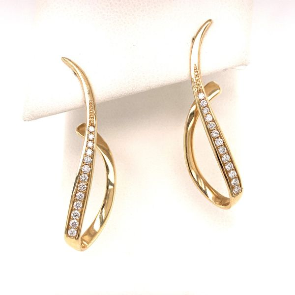 """Swoop"" Earrings by Madison L Wesche Jewelers Melbourne, FL"