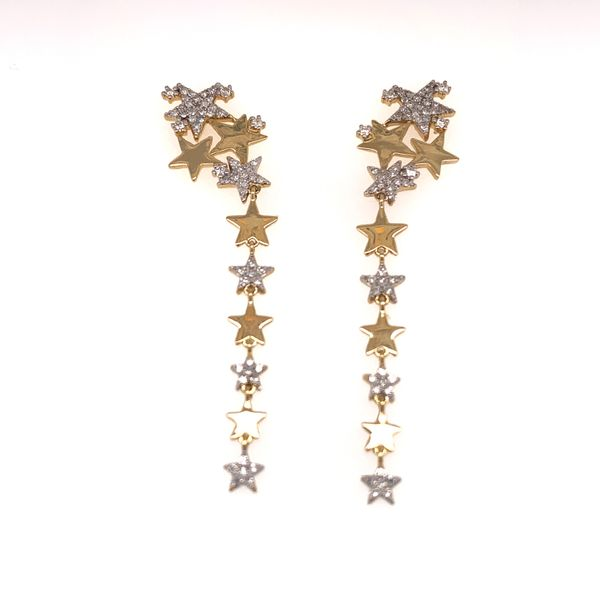 Star Cluster Dangle Earrings by Madison L Wesche Jewelers Melbourne, FL