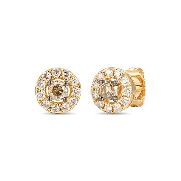 Halo Studs by Le Vian from the Creme Brulee Collection Wesche Jewelers Melbourne, FL