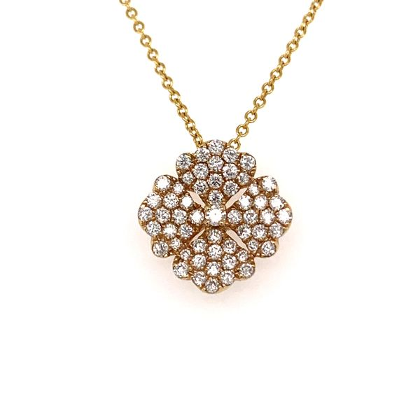Diamond Pave Flower Pendant by Madison L Wesche Jewelers Melbourne, FL