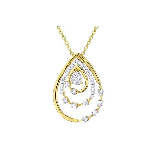 Diamond Concentric Pendant by Madison L Wesche Jewelers Melbourne, FL