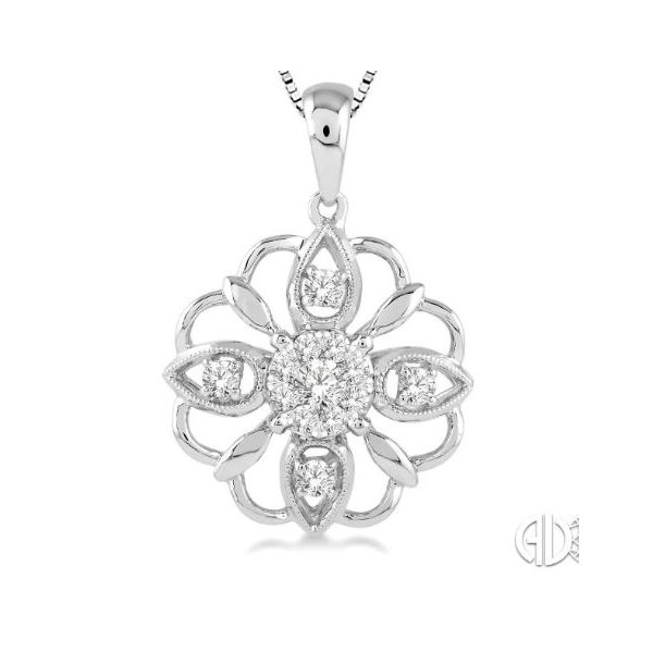 """Lovebright"" Flower Pendant Wesche Jewelers Melbourne, FL"