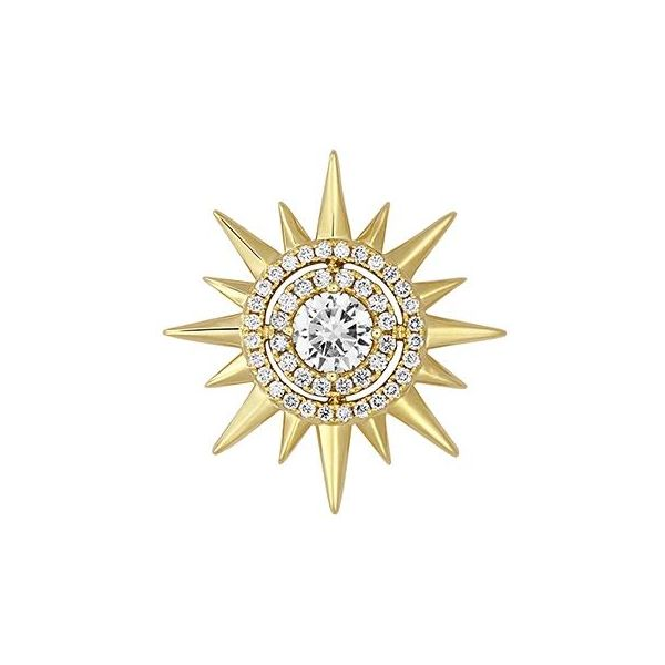 Lab Grown Diamond Sun Pendant by Chatham Wesche Jewelers Melbourne, FL