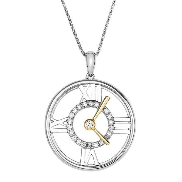 LAB GROWN Diamond Clock Pendant by Chatham Wesche Jewelers Melbourne, FL