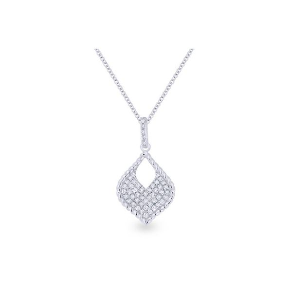 Diamond Pointed Pendant by Madison L Wesche Jewelers Melbourne, FL