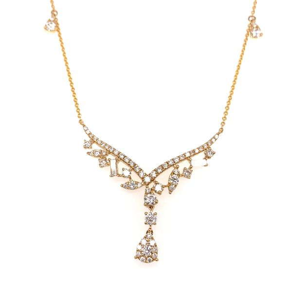 "Diamond ""V"" Necklace by Madison L Wesche Jewelers Melbourne, FL"