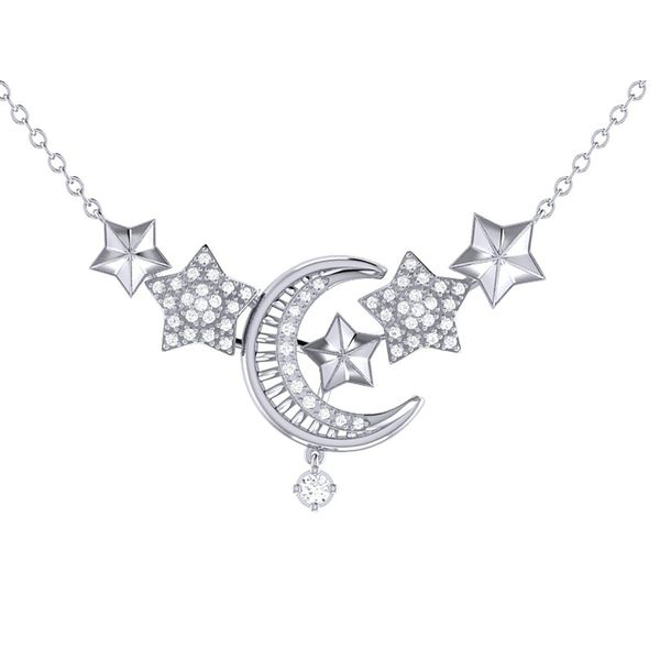 Star Cluster Crescent Necklace by LuvMyJewelry Wesche Jewelers Melbourne, FL