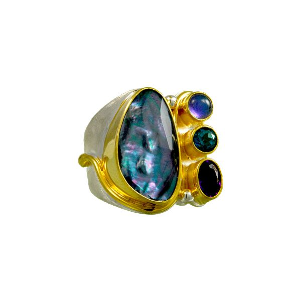 "Multi-gemstone Ring from ""Iridescence"" Collection by Micou Wesche Jewelers Melbourne, FL"