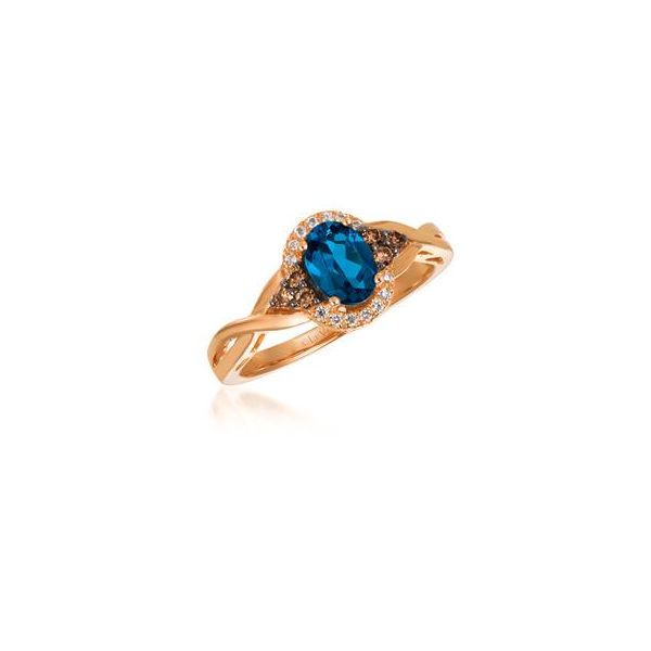 Deep Sea Blue Topaz Ring by Le Vian from the Chocolatier Collection Wesche Jewelers Melbourne, FL