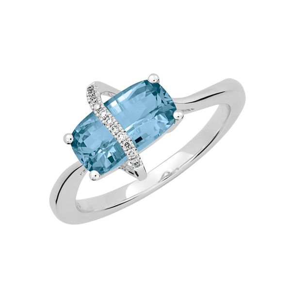 Lab Grown Aqua Spinel Ring with Lab Grown Diamonds by Chatham Wesche Jewelers Melbourne, FL