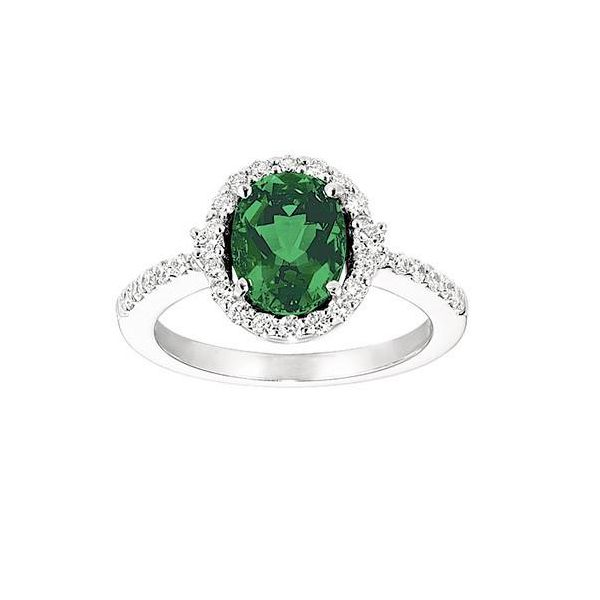 Lab Grown Oval Emerald Ring with Lab Grown Diamonds by Chatham Wesche Jewelers Melbourne, FL