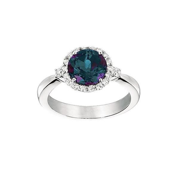Lab Grown Alexandrite Ring with Lab Grown Diamonds by Chatham Wesche Jewelers Melbourne, FL