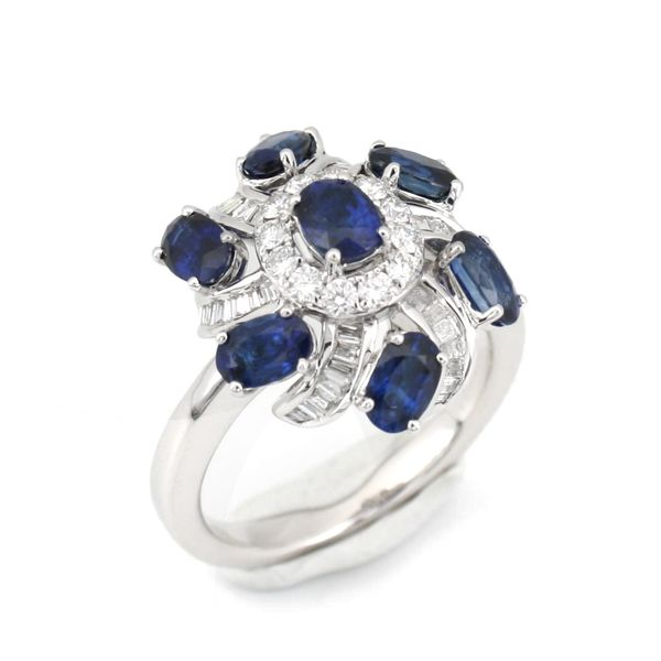 Blue Sapphire Cocktail Ring Wesche Jewelers Melbourne, FL