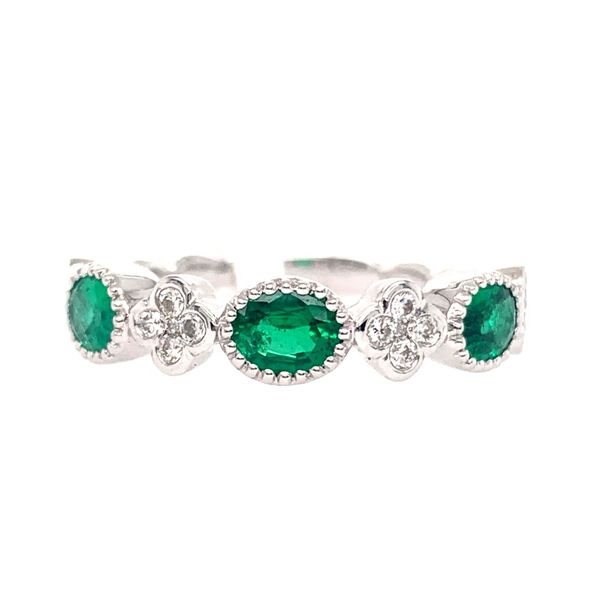 Emerald Band with Clover Accents Wesche Jewelers Melbourne, FL