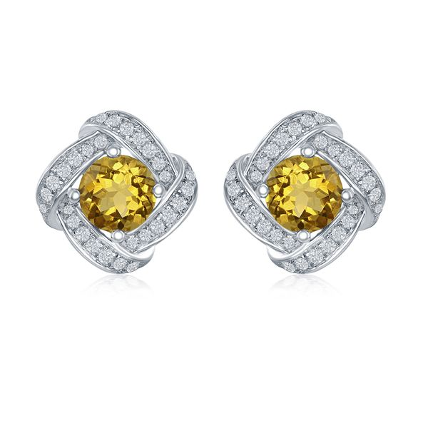 Citrine Earrings by Benjamin Cohen Wesche Jewelers Melbourne, FL